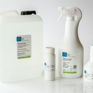 Pharmacidal Sprays and Solutions
